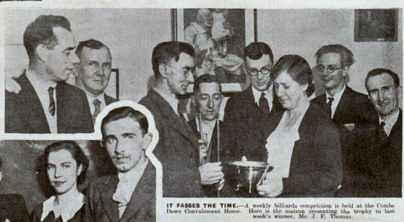Billiards trophy - Bath Chronicle and Weekly Gazette - Saturday 30 November 1935