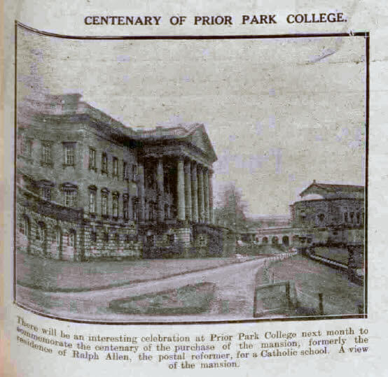 Centenary of Prior Park College - Bath Chronicle and Weekly Gazette - Saturday 23 November 1929