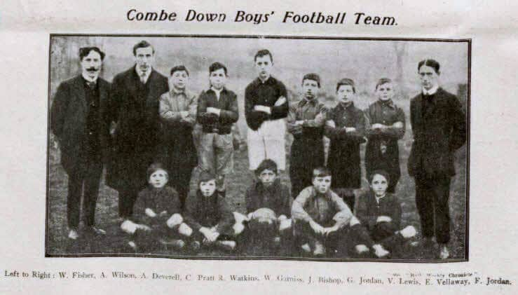 Combe Down boys football team - Bath Chronicle and Weekly Gazette - Saturday 11 April 1914