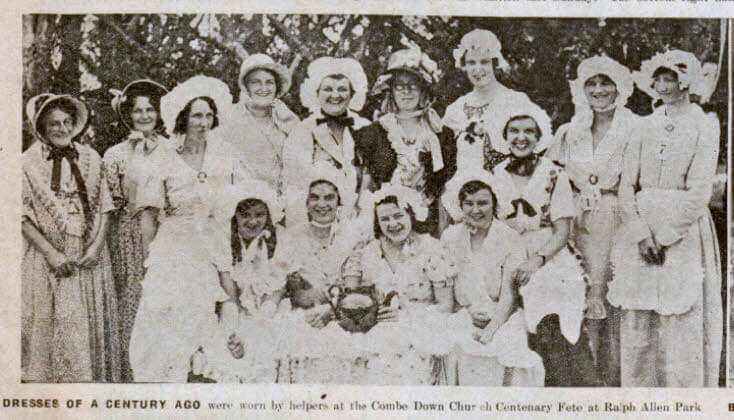 Combe Down centenary fete dresses - Bath Chronicle and Weekly Gazette - Saturday 6 July 1935