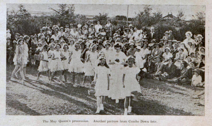 Combe Down centenary fete May Queen - Bath Chronicle and Weekly Gazette - Saturday 6 July 1935