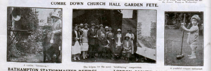 Combe Down church hall garden fete - Bath Chronicle and Weekly Gazette - Saturday 1 August 1925