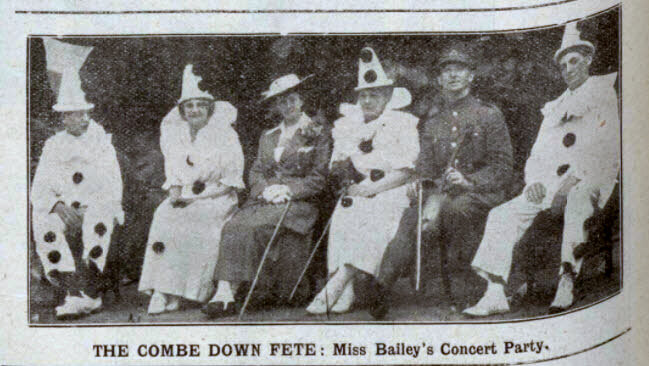 Combe Down fete concert party - Bath Chronicle and Weekly Gazette - Saturday 4 August 1917