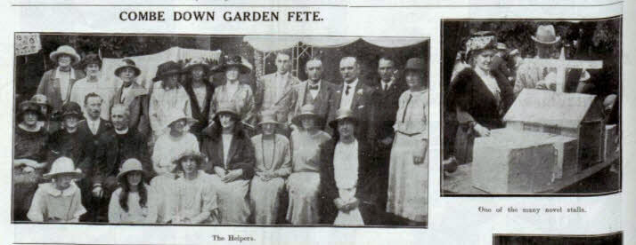 Combe Down fete stalls - Bath Chronicle and Weekly Gazette - Saturday 26 July 1924