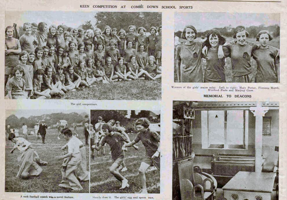Combe Down school sports photos - Bath Chronicle and Weekly Gazette - Saturday 27 July 1935