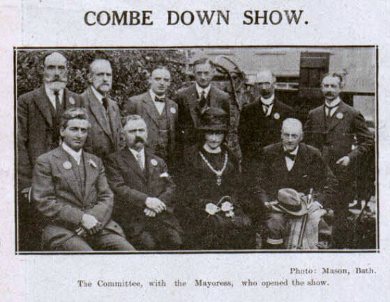 Combe Down show - Bath Chronicle and Weekly Gazette - Saturday 22 September 1923