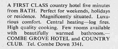 Combe Grove Manor - The Tatler - Wednesday 22 March 1961