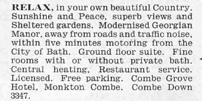 Combe Grove Manor - The Tatler - Wednesday 25 March 1964