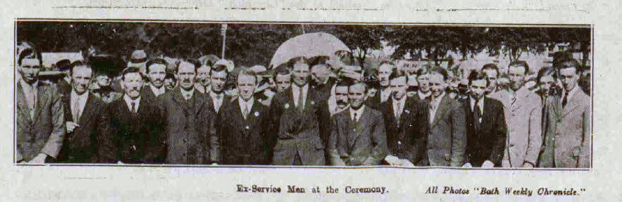 Dedication of Combe Down war memorial - Bath Chronicle and Weekly Gazette - Saturday 28 May 1921