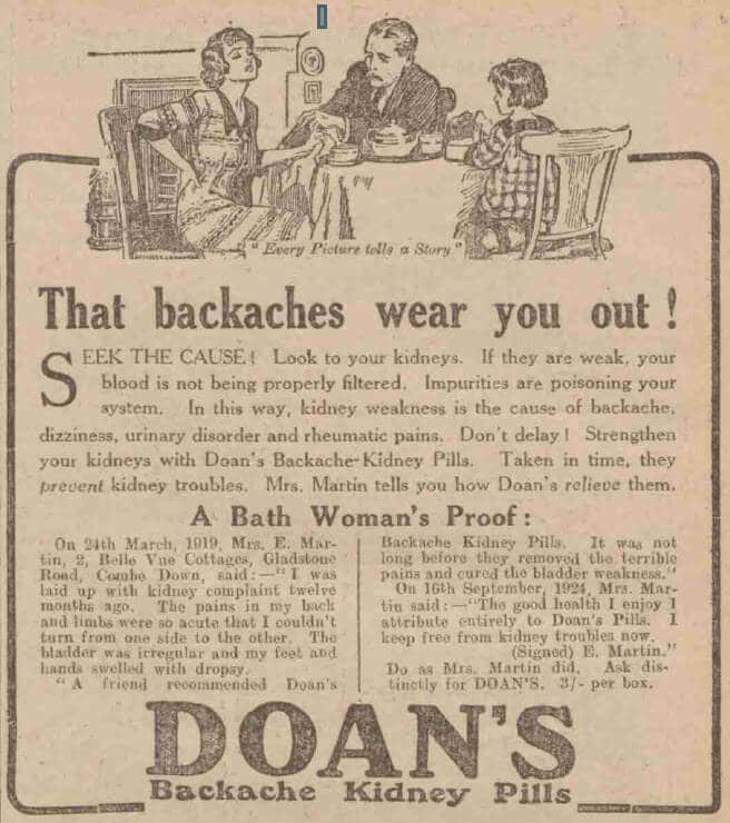 Doans, (Gladstone Road) - Bath Chronicle and Weekly Gazette - Saturday 11 July 1925