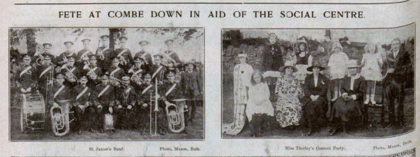 Fete at Combe Down - Bath Chronicle and Weekly Gazette - Saturday 4 June 1921