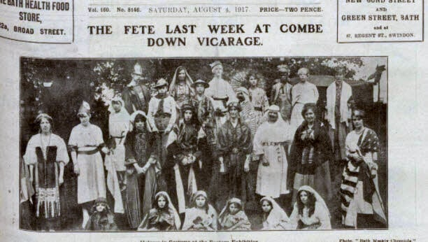 Fete at Combe Down vicarage - Bath Chronicle and Weekly Gazette - Saturday 4 August 1917