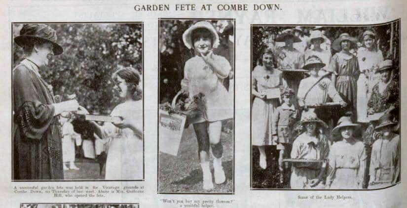 Garden fete at Combe Down - Bath Chronicle and Weekly Gazette - Saturday 5 August 1922