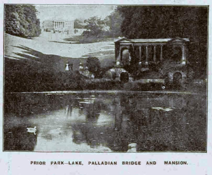 Grocers' Federation at Prior Park, lake and mansion