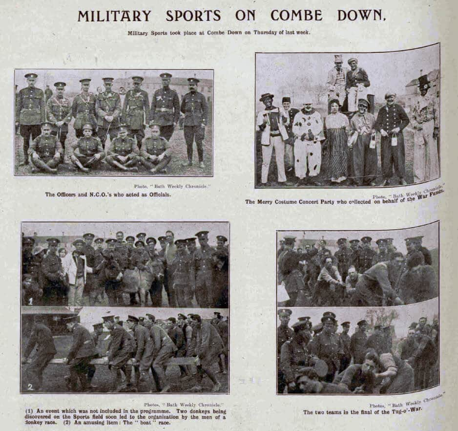 Military sports Combe Down - Bath Chronicle and Weekly Gazette - Saturday 5 May 1917