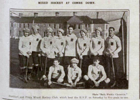 Mixed hockey at Combe Down - Bath Chronicle and Weekly Gazette - Saturday 2 March 1918