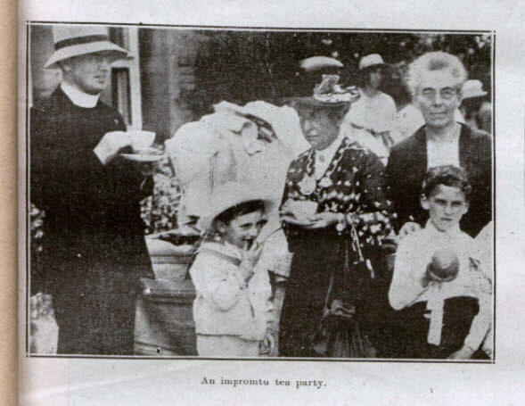 Monkton Combe garden fete tea party - Bath Chronicle and Weekly Gazette - Saturday 14 July 1923