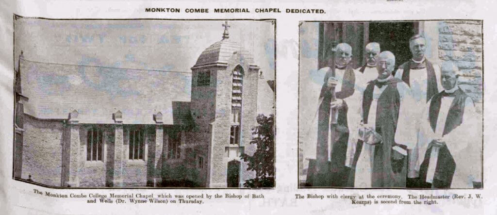 Monkton Combe memorial chapel - Bath Chronicle and Weekly Gazette - Saturday 27 June 1925