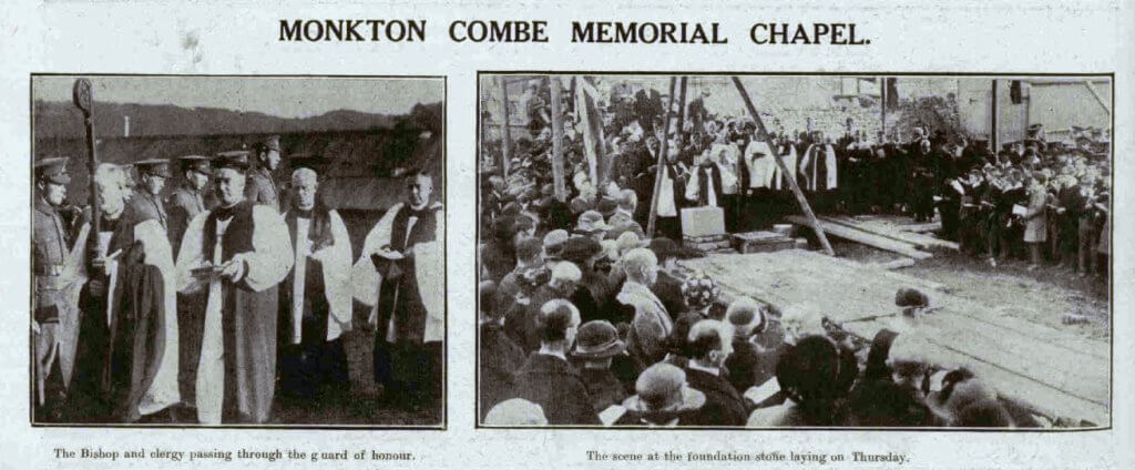 Monkton Combe school memorial chapel - Bath Chronicle and Weekly Gazette - Saturday 27 October 1923