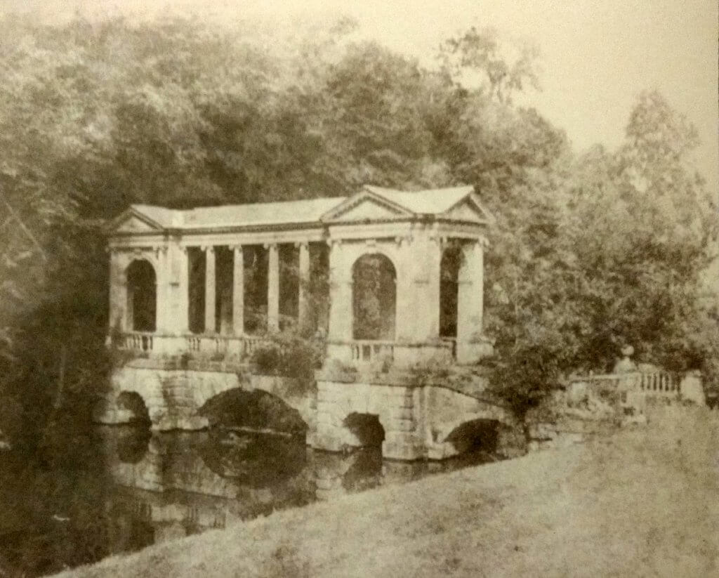 Palladian bridge at Prior Park about 1855, Rev Francis Lockey (1796 - 1869)