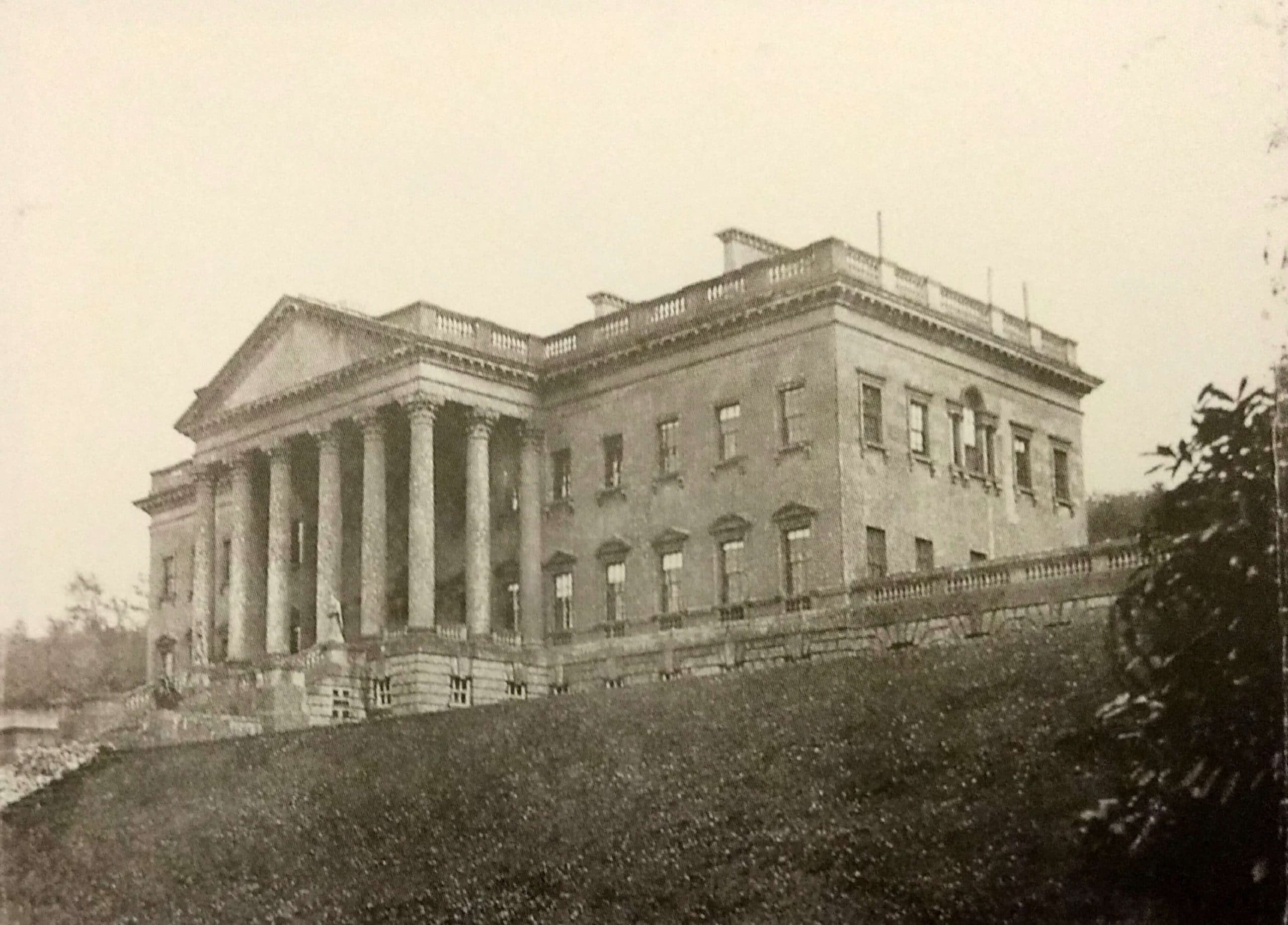 Prior Park mansion in about 1855, Rev Francis Lockey (1796 - 1869)