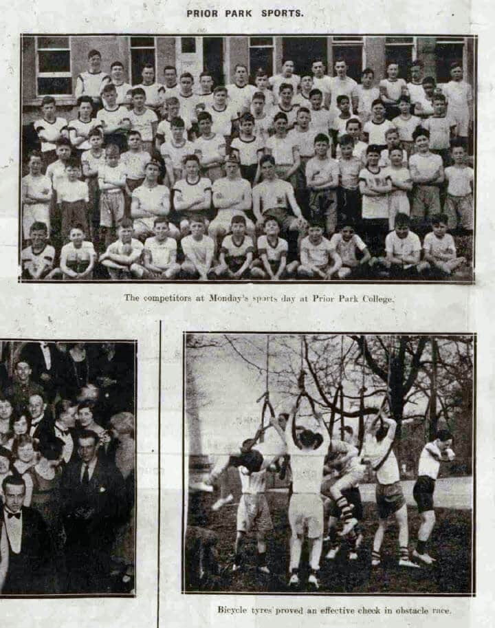 Prior Park school sports - Bath Chronicle and Weekly Gazette - Saturday 3 April 1926