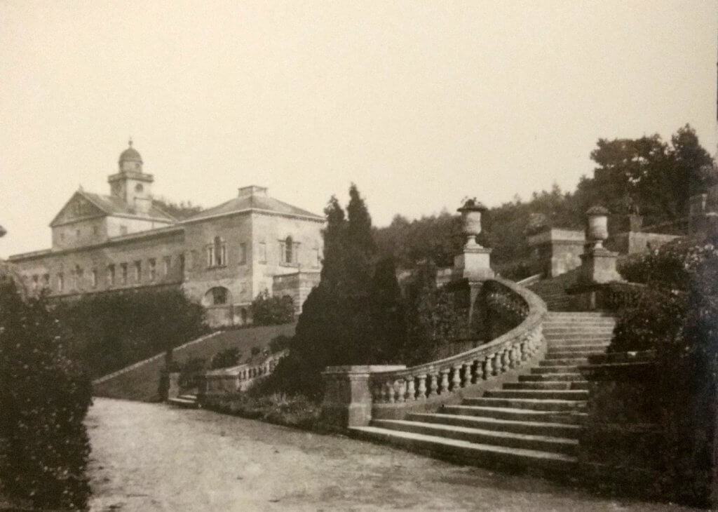 Prior Park steps in about 1855, Rev Francis Lockey (1796 - 1869)