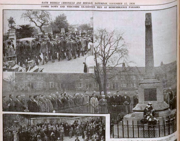 Remembrance parade - Bath Chronicle and Weekly Gazette - Saturday 12 November 1938