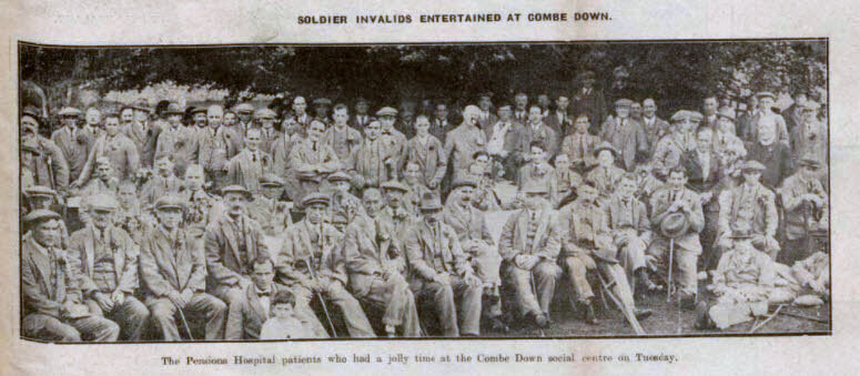 Soldier invalids entertained at Combe Down