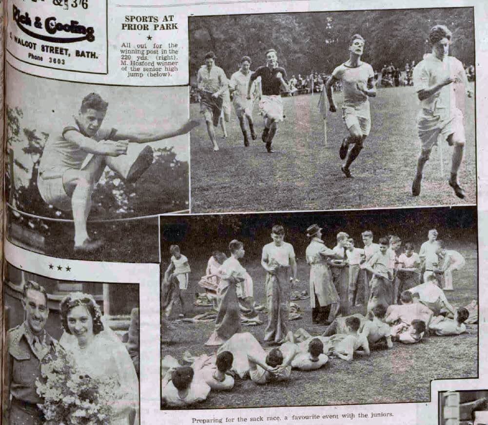 Sports at Prior Park College - Bath Chronicle and Weekly Gazette - Saturday 9 June 1945