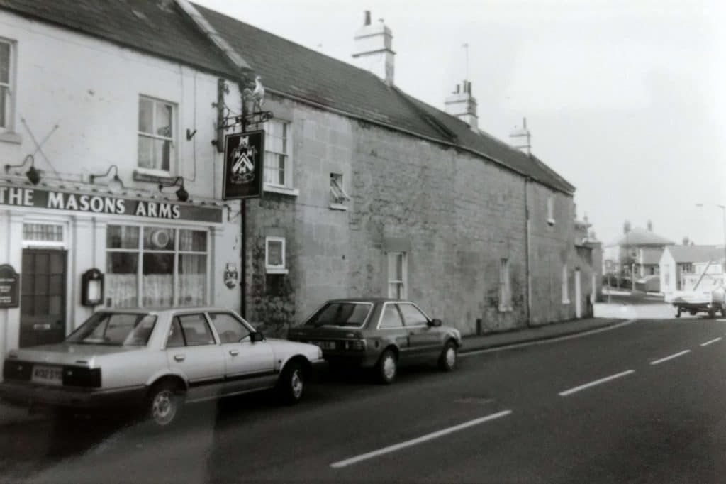 The Mason's Arms in the 1980s from BC88132975 Bath City Council Planning Department. Conservation team's 'Unique Property File' for 100 North Road, Combe Down, 22 Nov 1990-10 May 1995