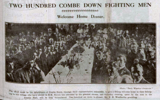 Two hundred Combe Down fighting men - Bath Chronicle and Weekly Gazette - Saturday 21 June 1919