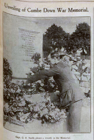 Unveiling Combe Down war memorial - Bath Chronicle and Weekly Gazette - Saturday 28 May 1921
