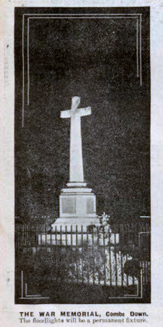 War memorial, Combe Down - Bath Chronicle and Weekly Gazette - Saturday 11 May 1935