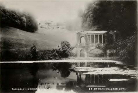Palladian Bridge at Prior Park about 1900
