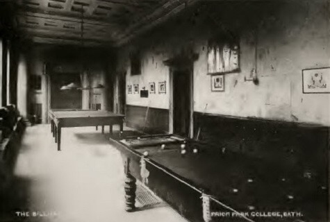 Prior Park billiard room about 1900
