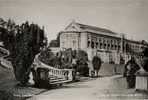 Prior Park chapel outside about 1900