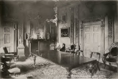 Prior Park dining room about 1900