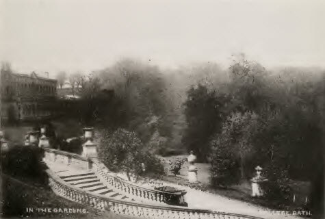 Prior Park garden shot about 1900