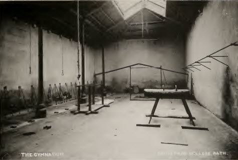 Prior Park gymnasium about 1900