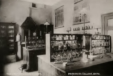 Prior Park laboratory about 1900