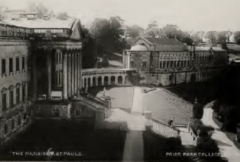Prior Park mansion and St Pauls about 1900
