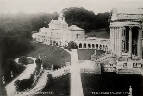 Prior Park mansion and St Peters about 1900