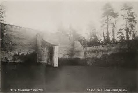 Prior Park racquet court about 1900