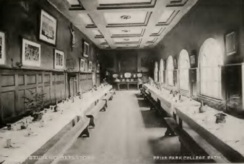 Prior Park refectory about 1900