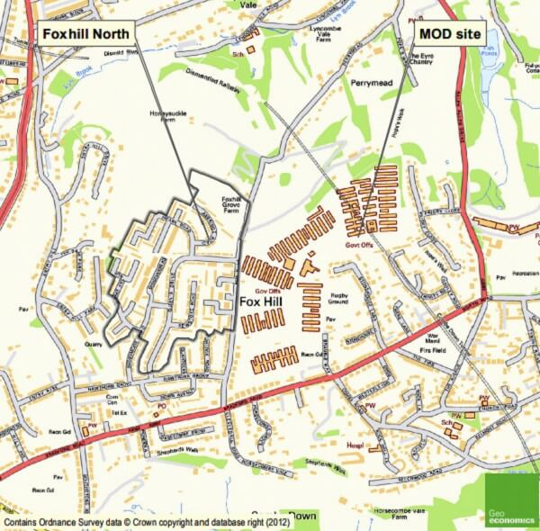 Hepworth Foxhill North map 2012