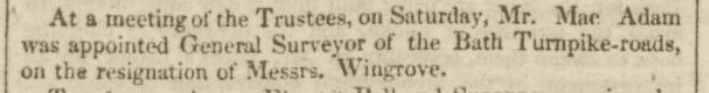Macadam's appointment - Bath Chronicle and Weekly Gazette - Thursday 16 March 1826