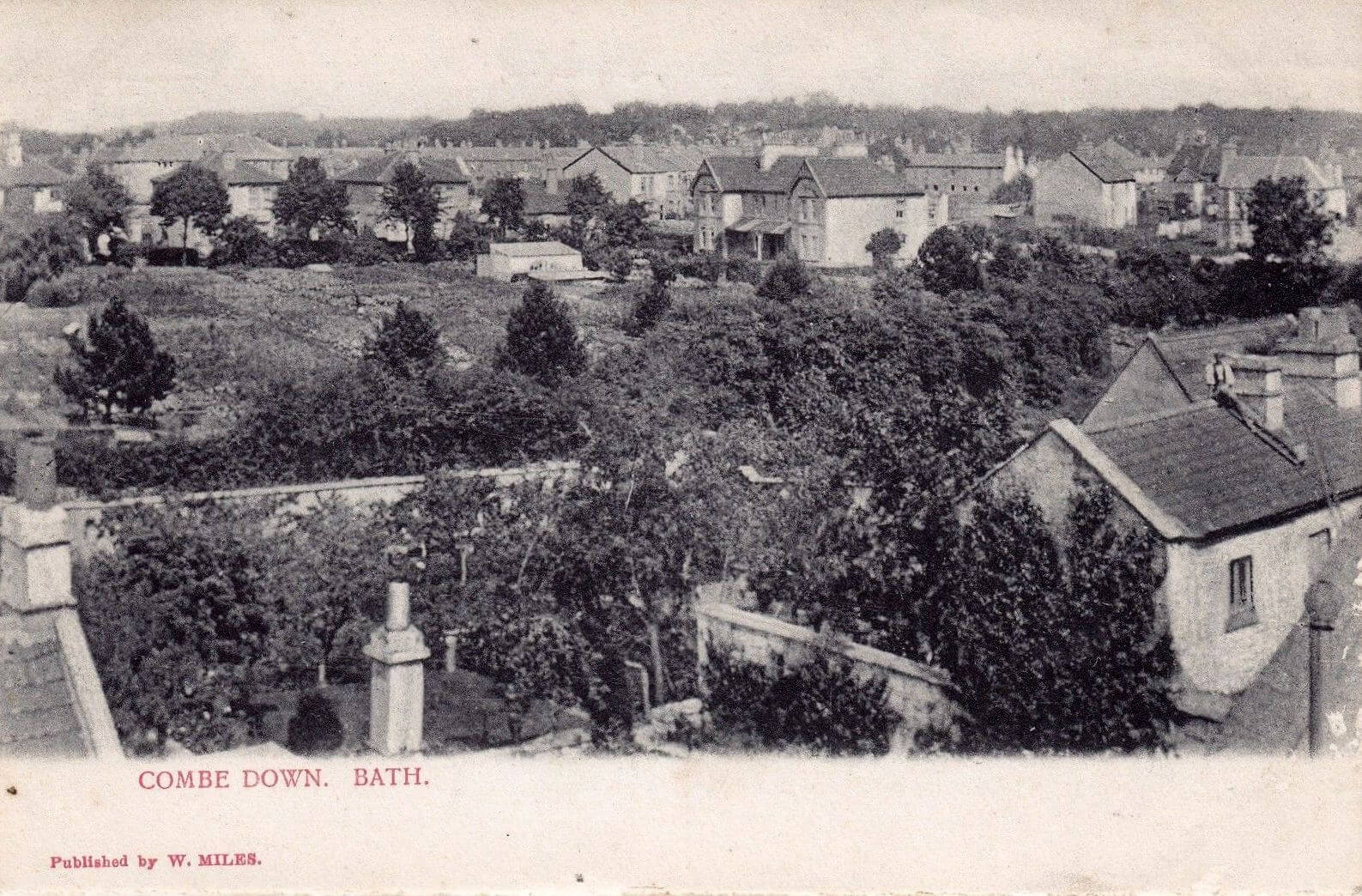 View across Williamstowe, Combe Down, early 1900s