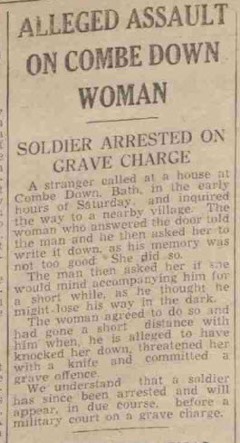 Alleged assault - Bath Chronicle and Weekly Gazette - Saturday 13 May 1944
