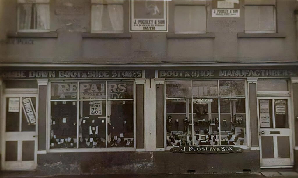 Combe Down boot and shoe shop early 1900s